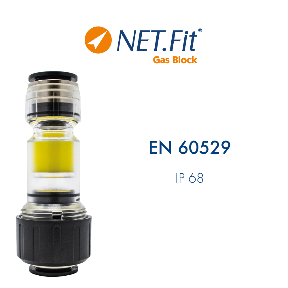 Net.Fit Gas Block 2P Certification EN 60529