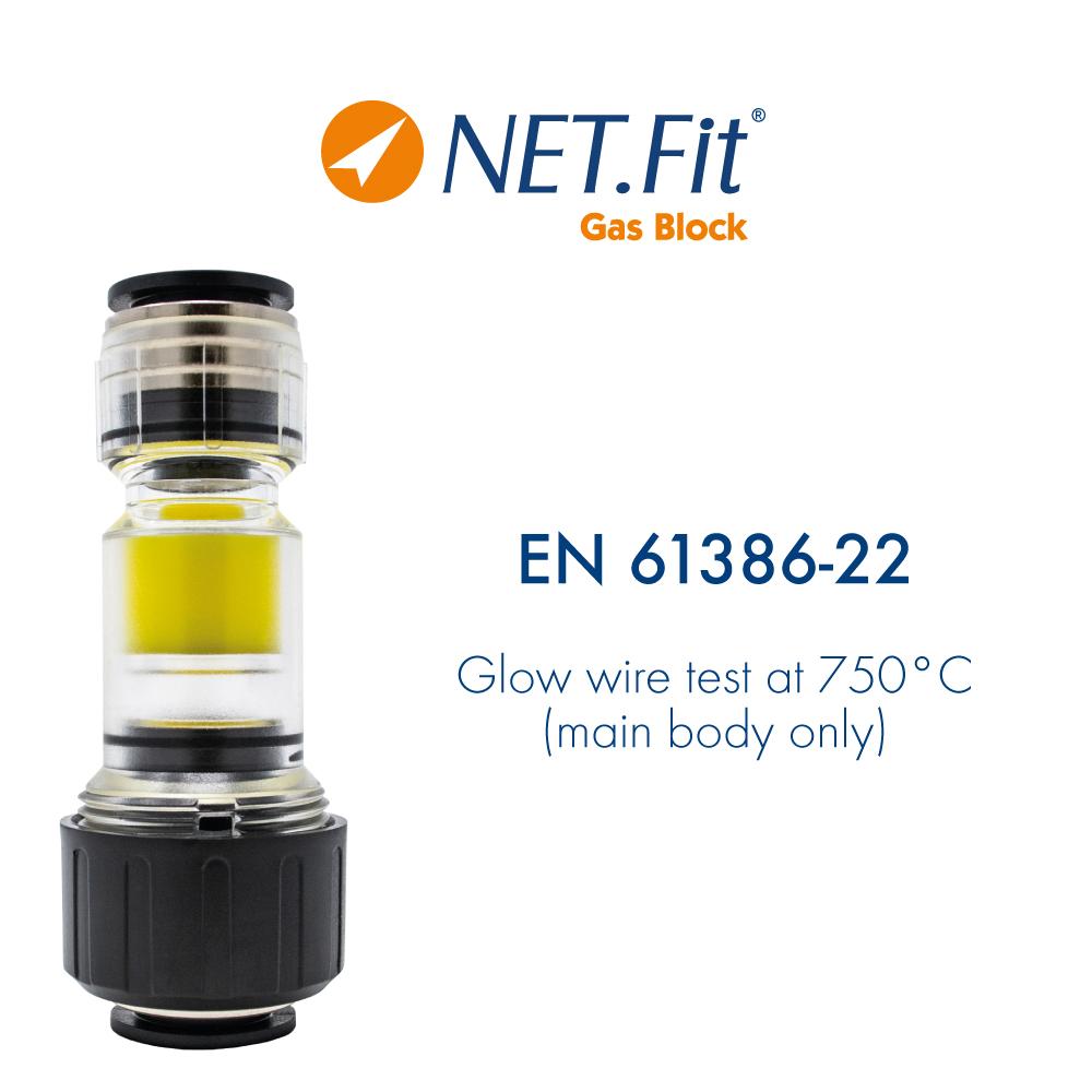 Net.Fit Gas Block 2P Certification EN 61386-22