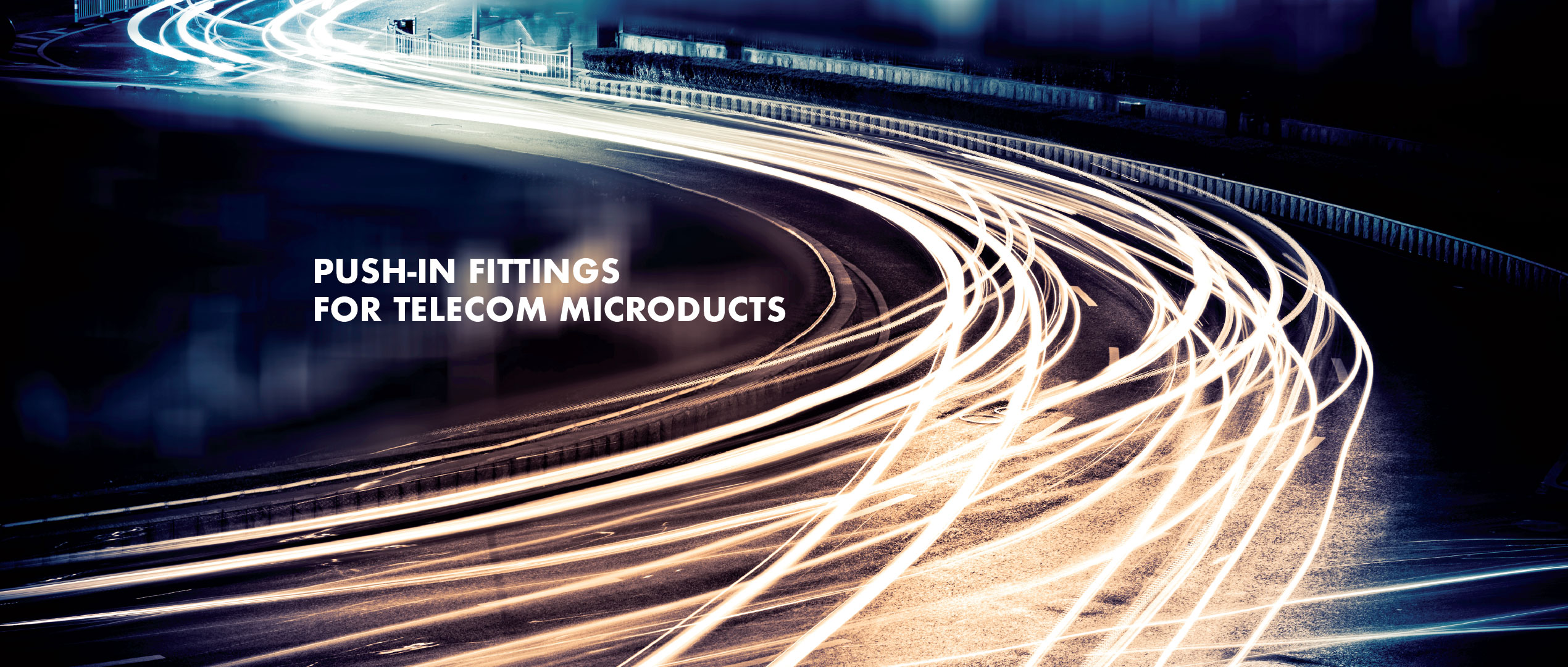 Net.fit Push-in fittings for telecom microducts